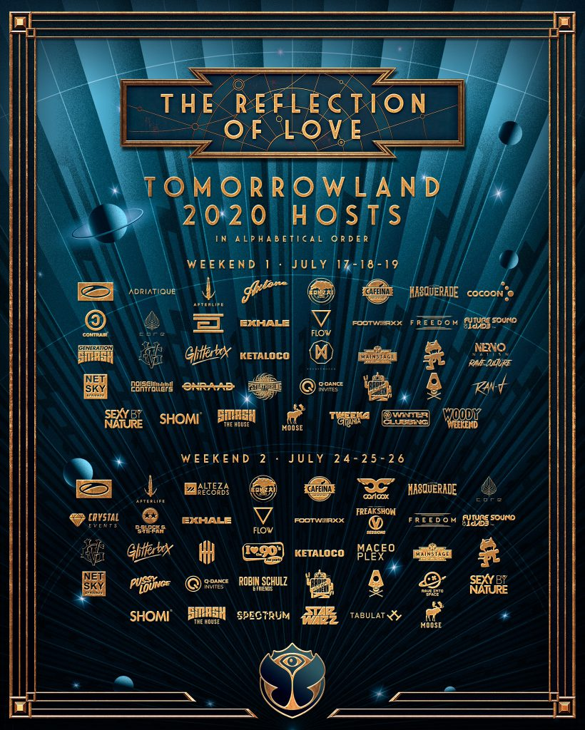 Tomorrowland 2020 Stagehostings